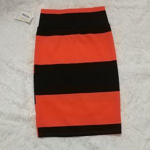 NWT LULAROE Halloween Striped Cassie Skirt S 6-8